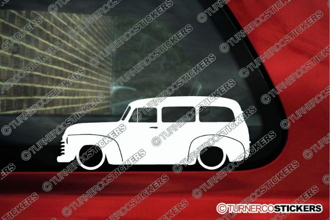 2x LOW Chevrolet Suburban 1947-1955  Lowered classic chevy outline stickers